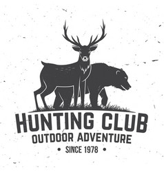 Hunting club badge concept vector