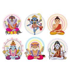 Indian god hinduism godhead goddess and vector