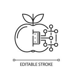 Internet food linear icon vector