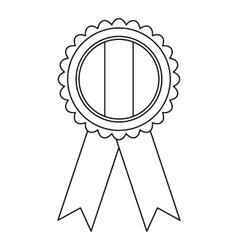 Ireland emblem icon outline style vector image
