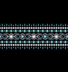 Jewellery border ornament in boho style vector