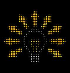 light bulb halftone icon vector image