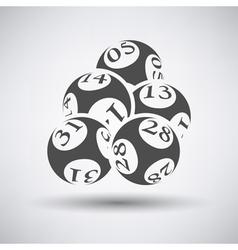 Lotto Balls Icon vector image
