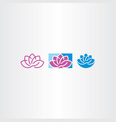 lotus icon design elements vector image