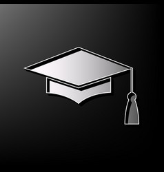 mortar board or graduation cap education symbol vector image