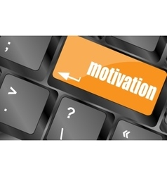 motivation button on computer keyboard key vector image