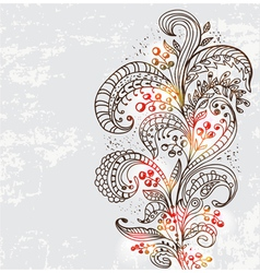 natural floral ornament vector image