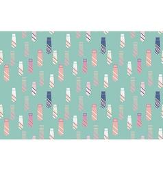 Necktie seamless pattern background vector