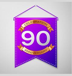 ninety years anniversary celebration design vector image