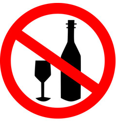 no alcohol drink sign logo element no drinking vector image