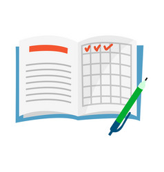 Notepad and notebook icon vector