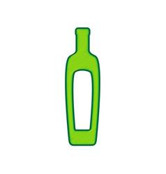 Olive oil bottle sign lemon scribble icon vector