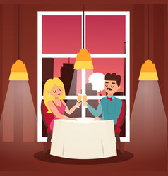 perfect date banner people vector image