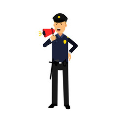 police officer character in a blue uniform vector image