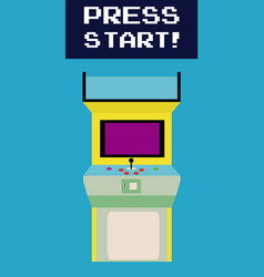 Press start to play arcade vector