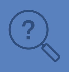 problem solution search linear icon vector image