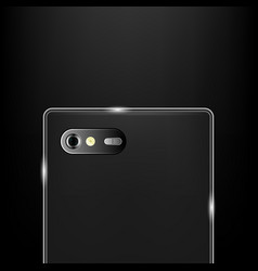realistic back camera on the smartphone vector image