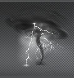 Realistic hurricane thunderbolt composition vector