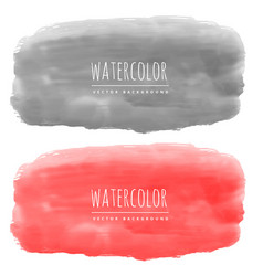 Red and black watercolor banners made with real vector