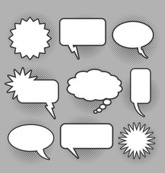 retro oval and rectangle bam speech bubbles vector image