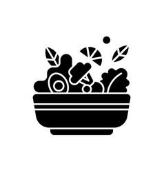 salads black glyph icon vector image