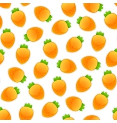 Seamless Pattern with Carrots vector image