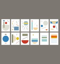 Set creative artistic background trendy vector