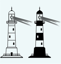 Set lighthouses vector