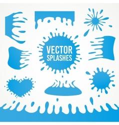 Set of abstract art ink splash splatters vector image