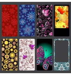 Set of colorful dust covers for mobile phone vector