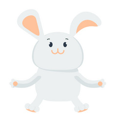 small happy bunny vector image