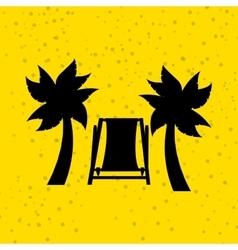 summer vacations icon design vector image