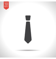 tie icon Eps10 vector image