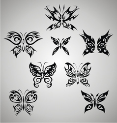 Tribal Butterfly Set vector