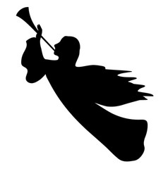Trumpeting angel vector