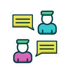 Two person interlocutors chat icon eps vector