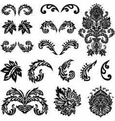 Victorian ornament set vector