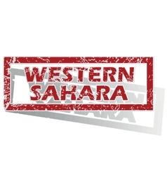 Western sahara outlined stamp vector