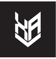 Xa logo monogram with emblem shield style design vector