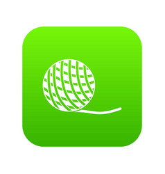 yarn ball toy for cat icon digital green vector image