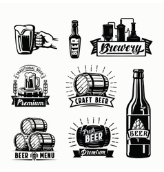 beer badges vector image