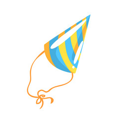 birthday party hat celebration party symbol vector image