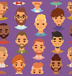 character bearded man face avatar fashion hipster vector image