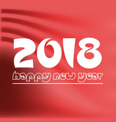 happy new year 2018 on red abstract color vector image vector image
