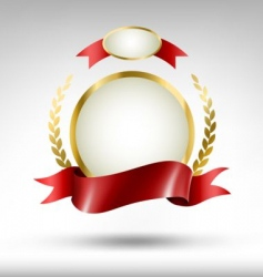 label with red ribbon vector image vector image