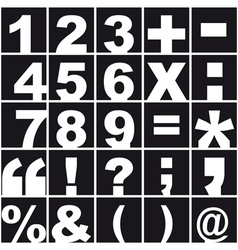Numerical alphabet and punctuation vector image