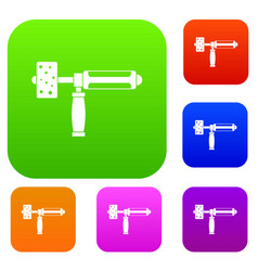 precision grinding machine set color collection vector image vector image