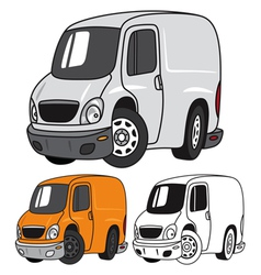 Cartoon Panel Van vector image vector image