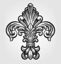 Elegant fleur-de-lis vector