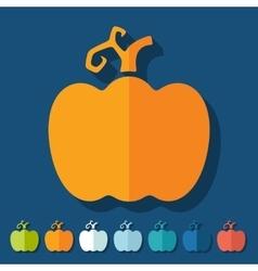 Flat design pumpkin vector image
